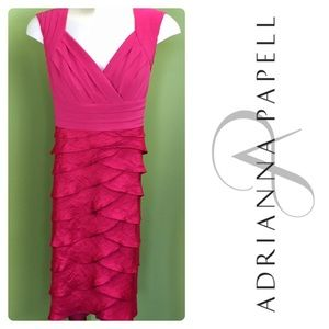 Adrianna Papell dusty rose cocktail dress